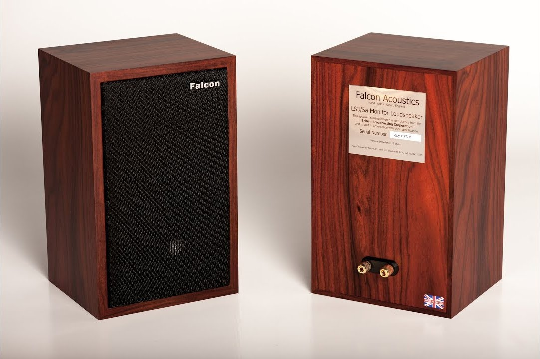 Falcon Acoustics' version of the famous BBC designed LS3/5a monitor speaker system is about as close to the original BBC specification as its possible to get. Note the single wire connector.