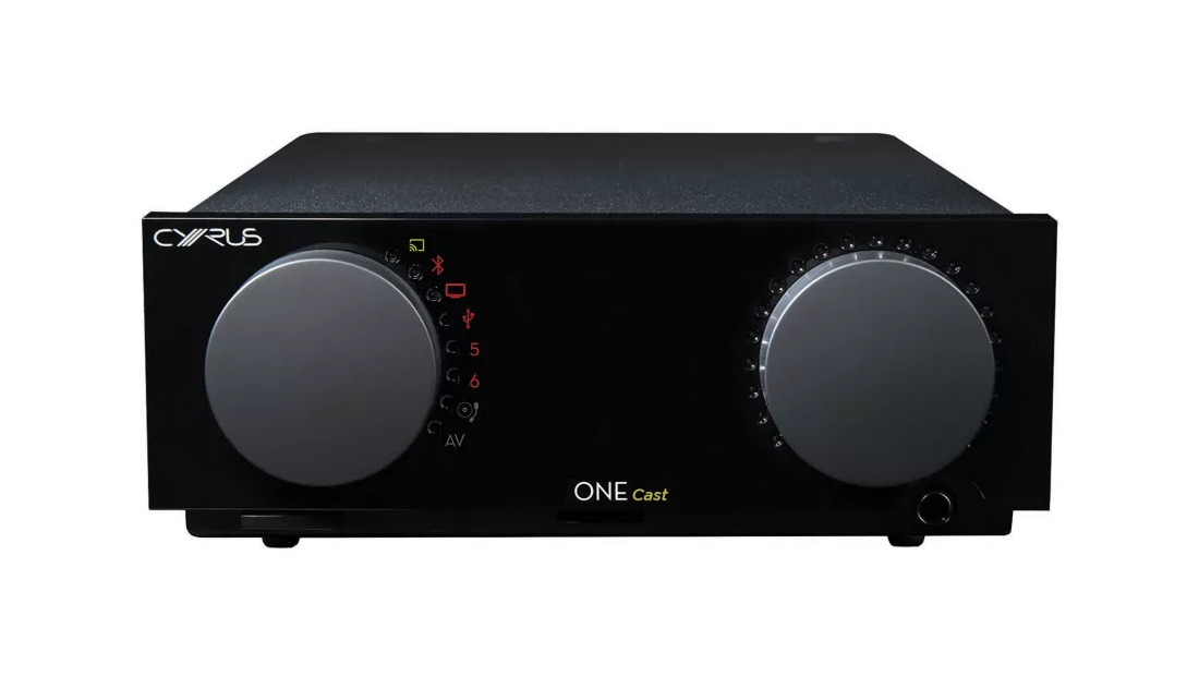 Minimalist yet attractive front panel of the ONE Cast integrated amplifier.